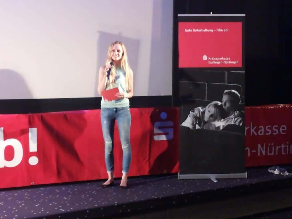 Janina Treis als Moderatorin bei der Kreissparkasse Esslingen-Nuertingen