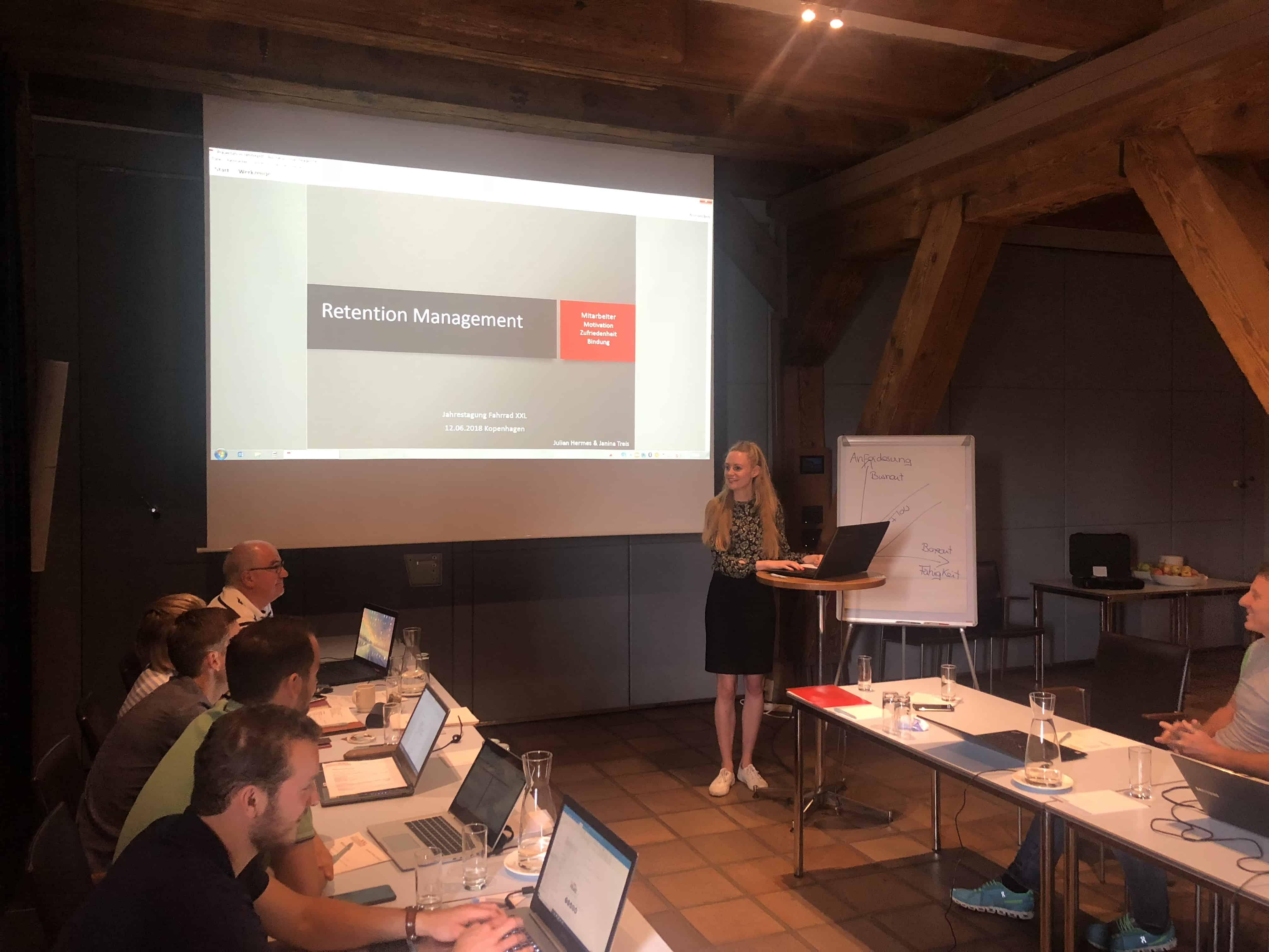 Vortrag zum Thema ´Retention Management´ für die Fahrrad XXL Gruppe in Kopenhagen, Dänemark.