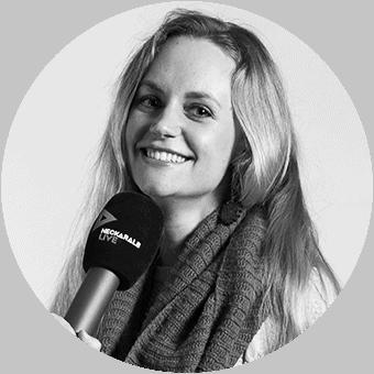 Janina Treis moderiert im Radio die Sendung ´Mittendrin´ beim Sender Neckaralb Live.